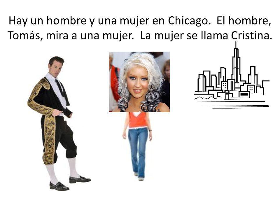 Hay un hombre y una mujer en Chicago