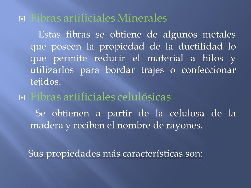 Fibras artificiales Minerales