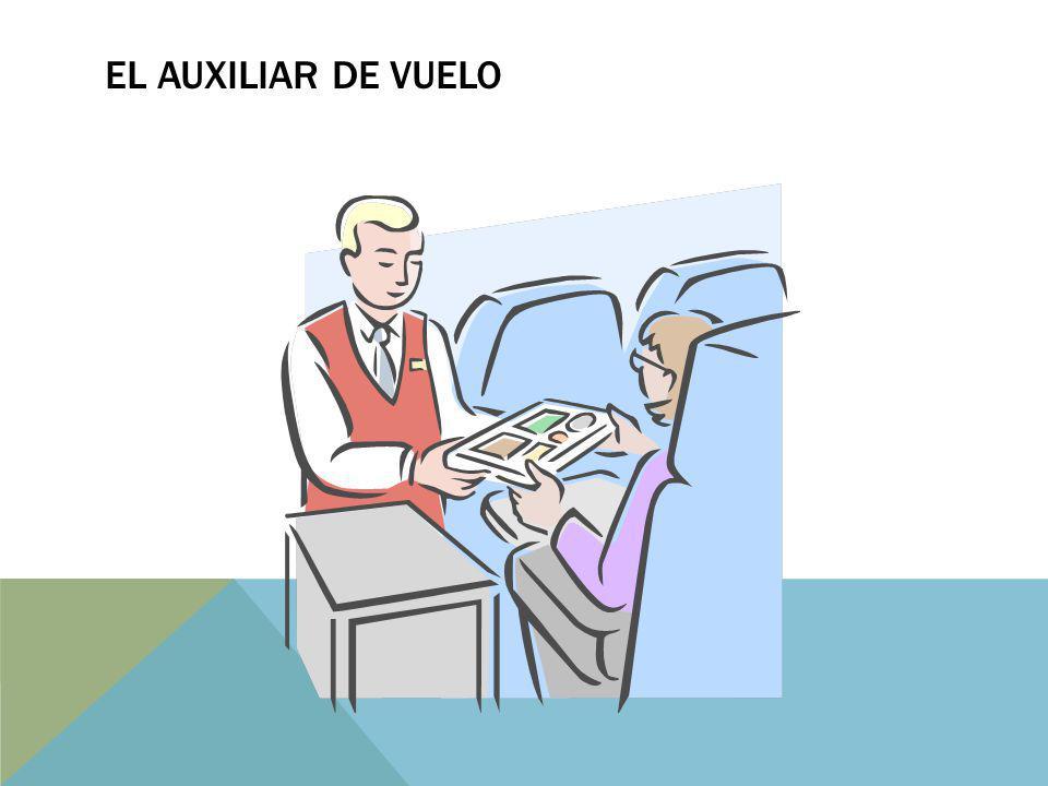 El auxiliar de vuelo