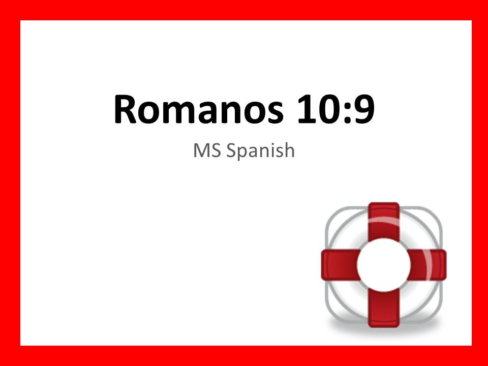 Romanos 10:9 MS Spanish