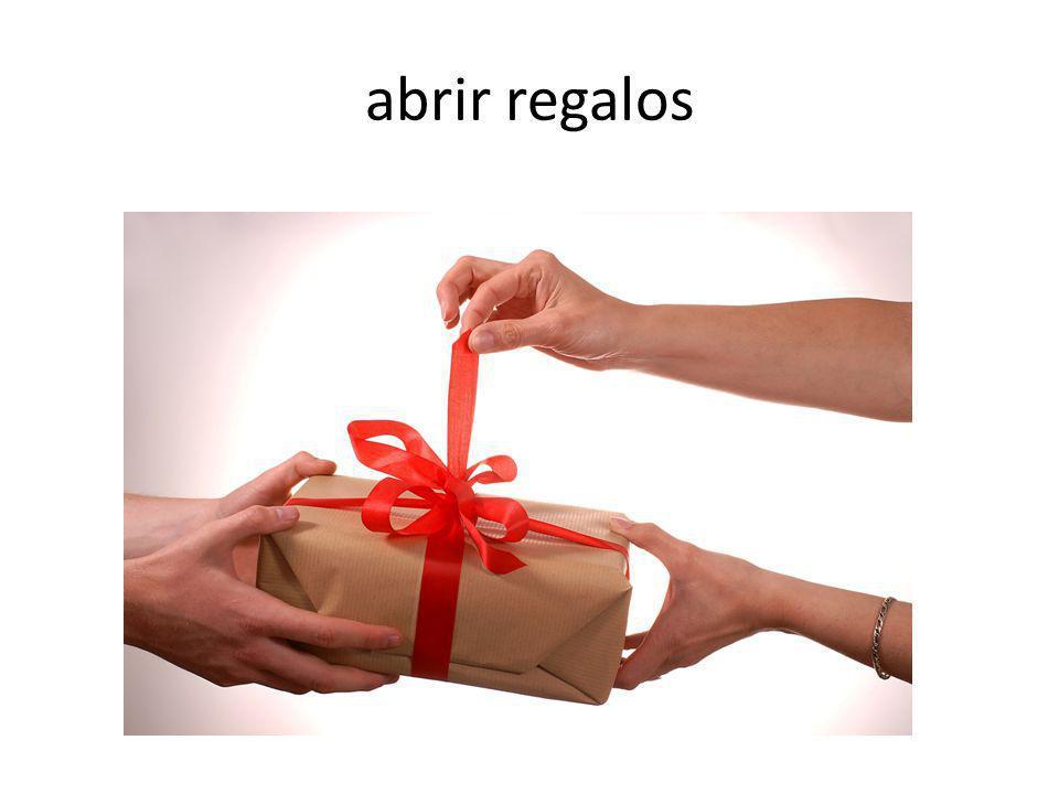 abrir regalos