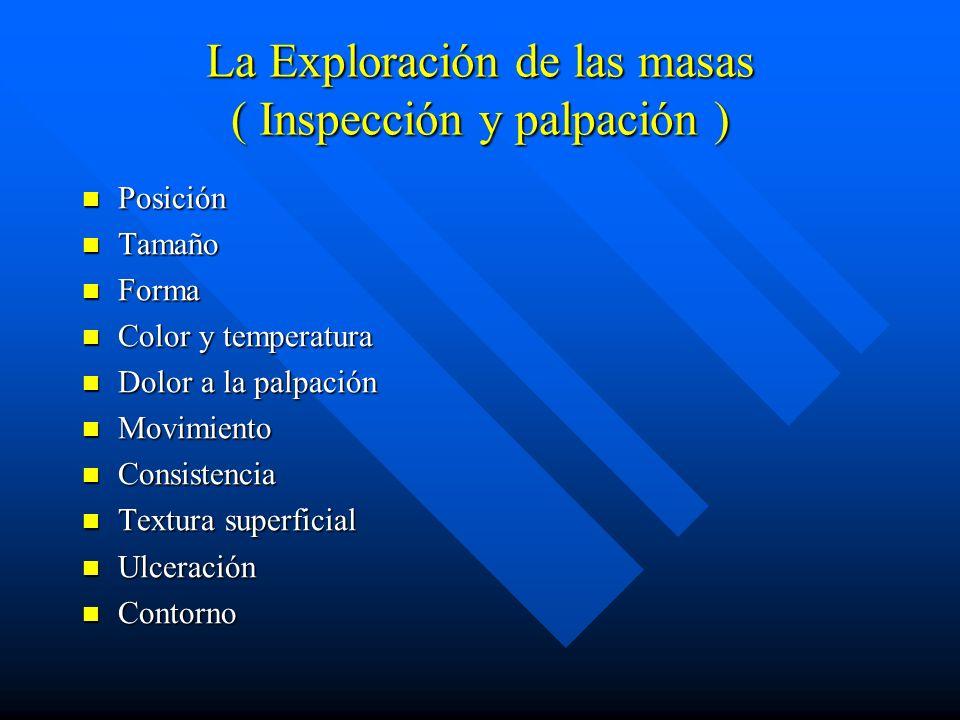 La Exploración de las masas ( Inspección y palpación )