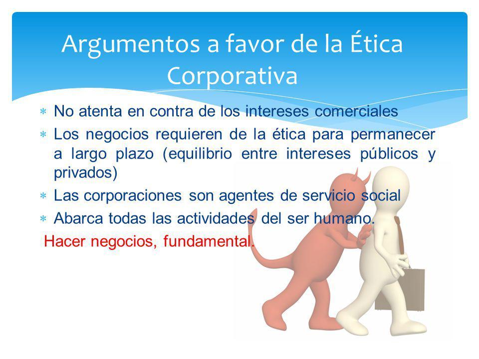 Argumentos a favor de la Ética Corporativa