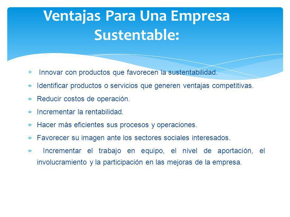 Ventajas Para Una Empresa Sustentable: