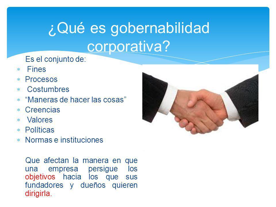 ¿Qué es gobernabilidad corporativa