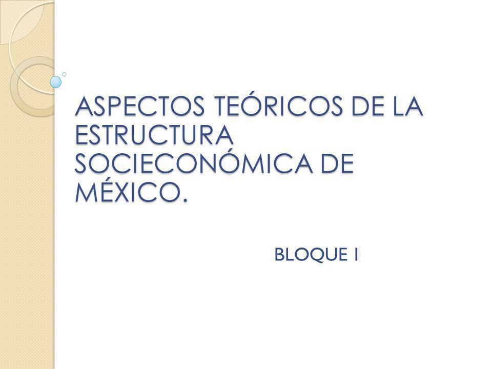 ASPECTOS TEÓRICOS DE LA ESTRUCTURA SOCIECONÓMICA DE MÉXICO.