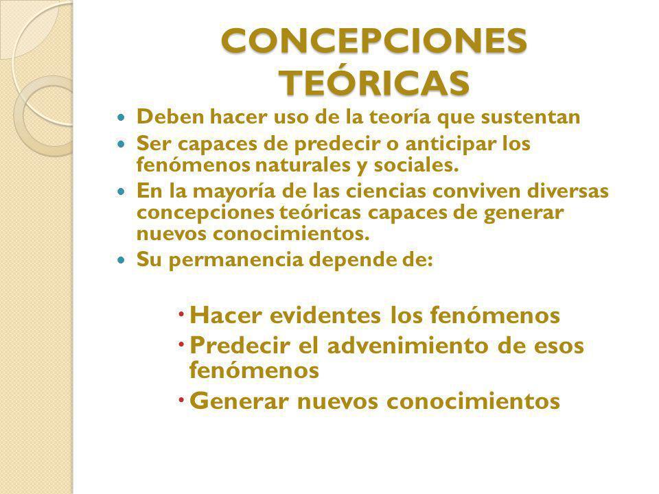 CONCEPCIONES TEÓRICAS