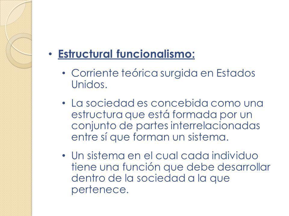 Estructural funcionalismo: