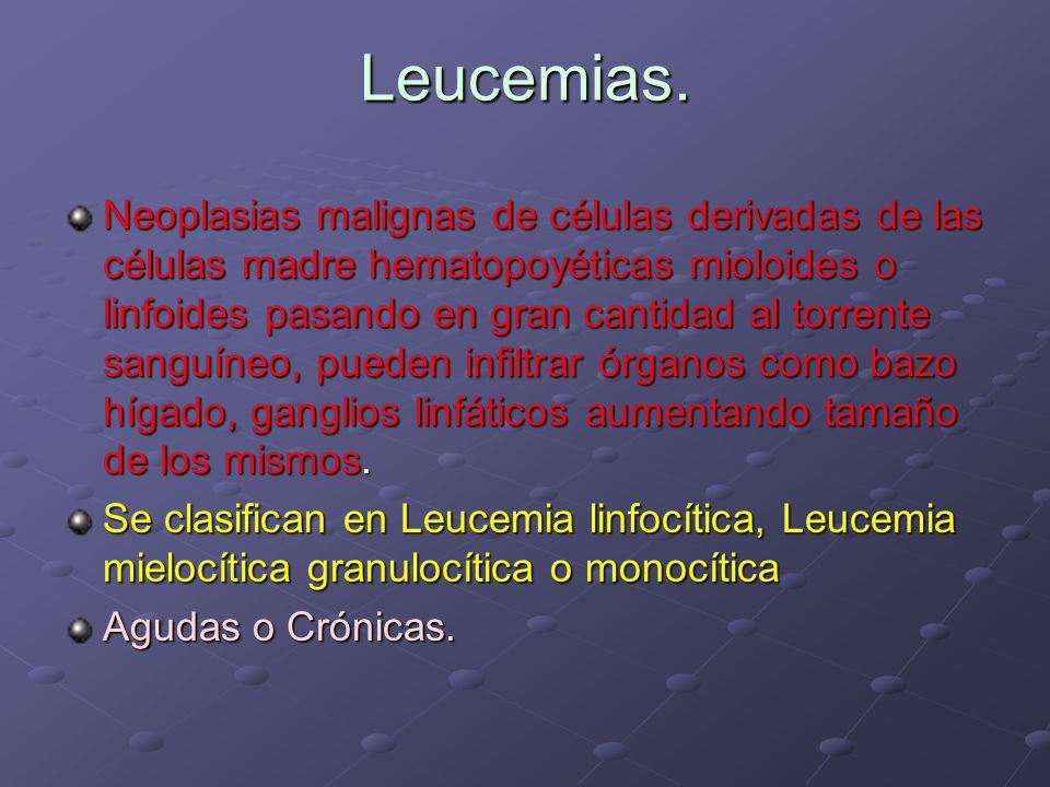 Leucemias.