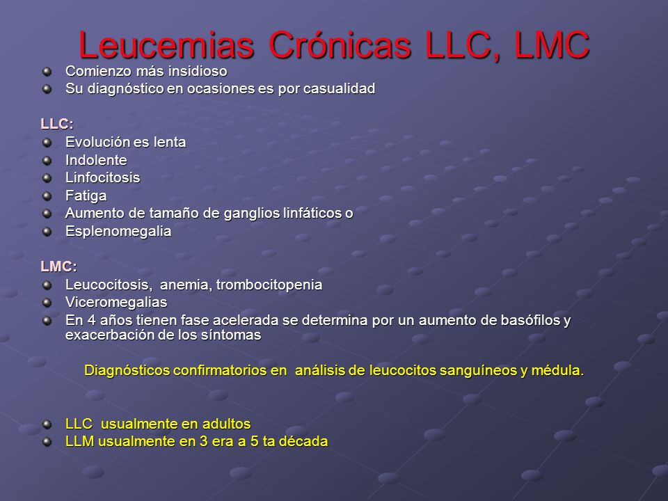 Leucemias Crónicas LLC, LMC