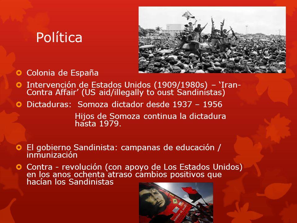 Política Colonia de España