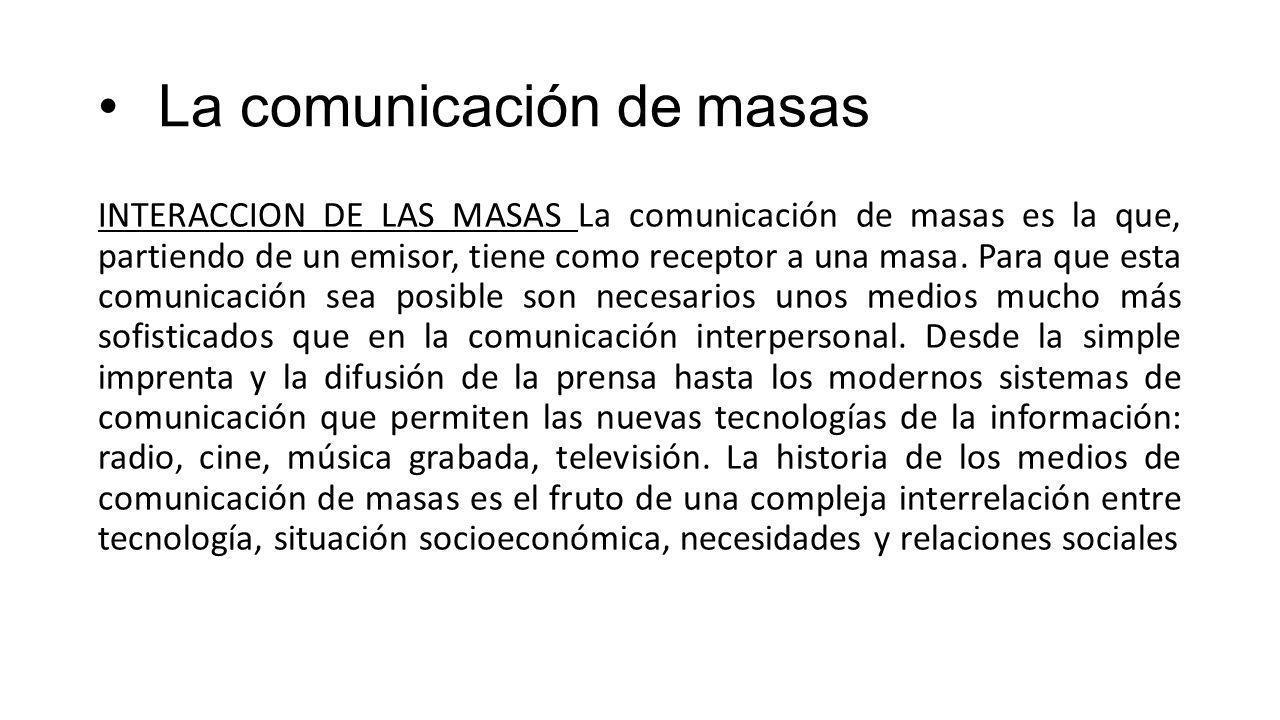 La comunicación de masas