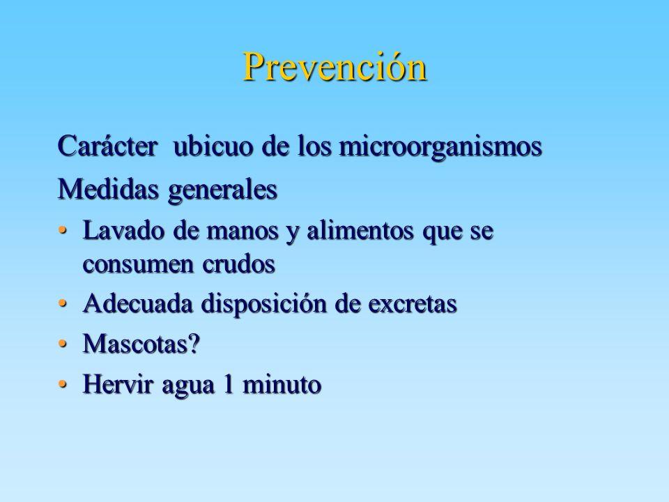 Prevención Carácter ubicuo de los microorganismos Medidas generales