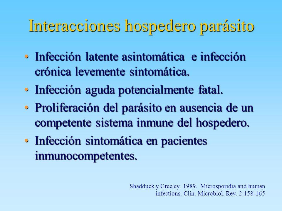 Interacciones hospedero parásito
