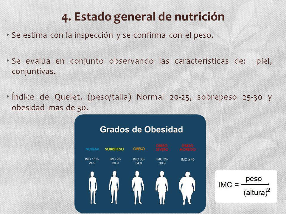 4. Estado general de nutrición