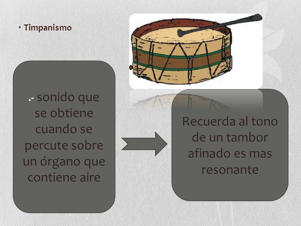 Recuerda al tono de un tambor afinado es mas resonante