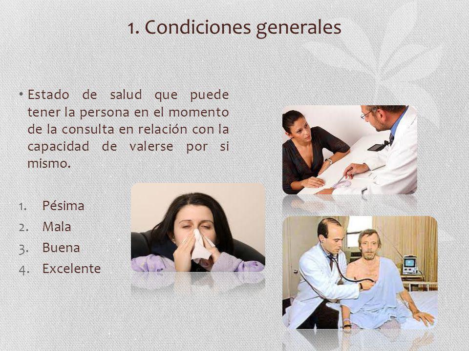 1. Condiciones generales
