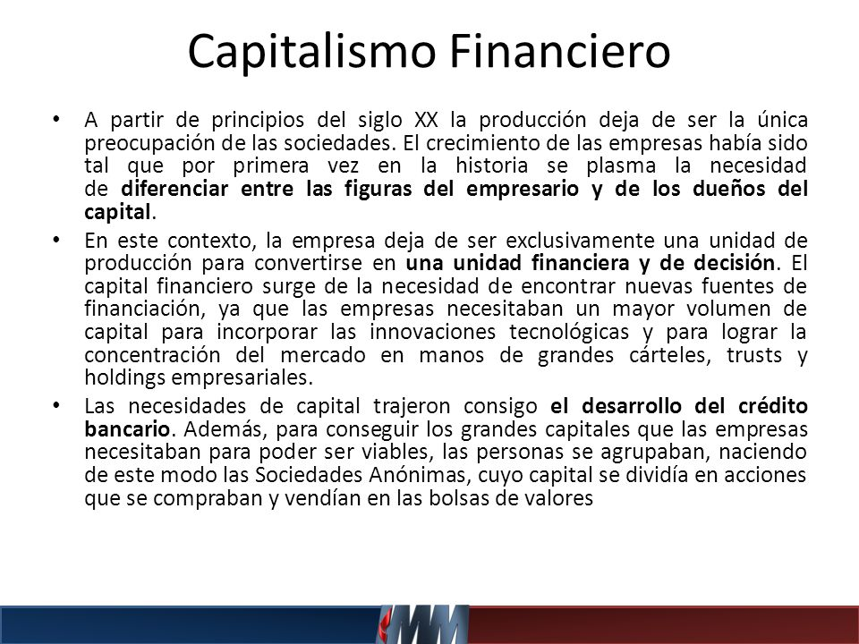 Capitalismo Financiero