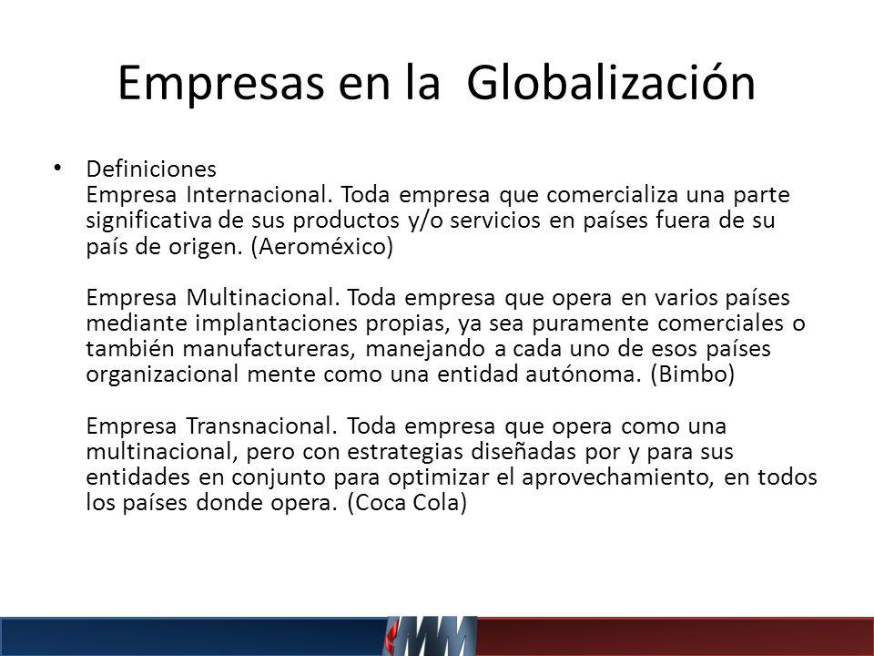 Empresas en la Globalización