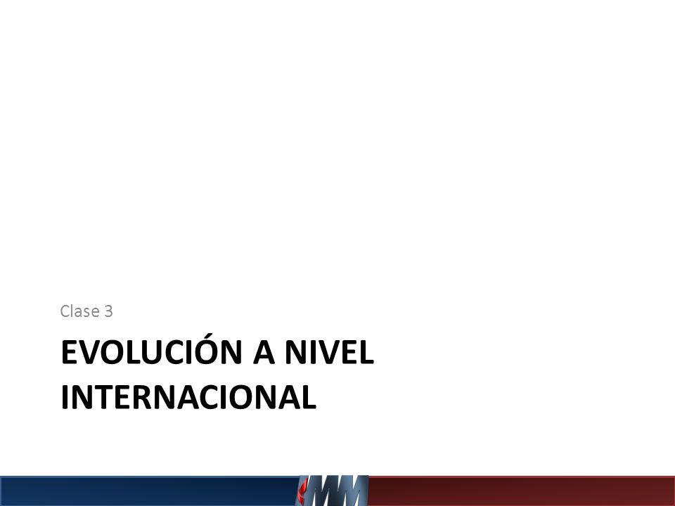Evolución a nivel Internacional