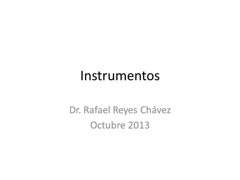 Dr. Rafael Reyes Chávez Octubre 2013