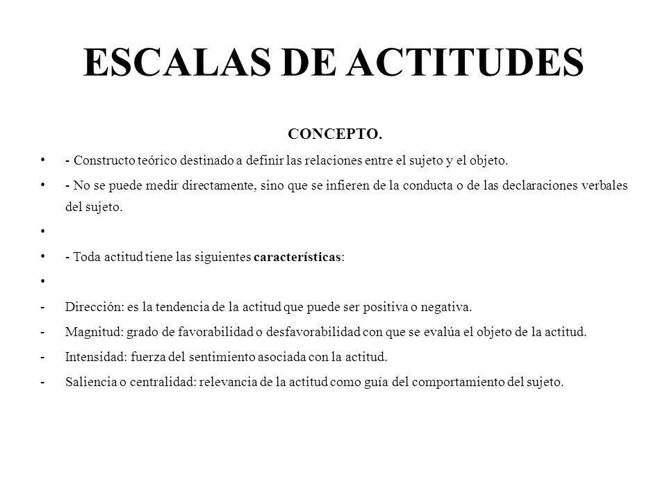 ESCALAS DE ACTITUDES CONCEPTO.