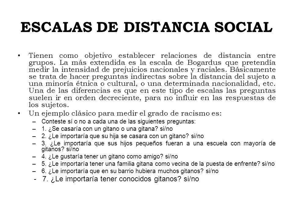 ESCALAS DE DISTANCIA SOCIAL