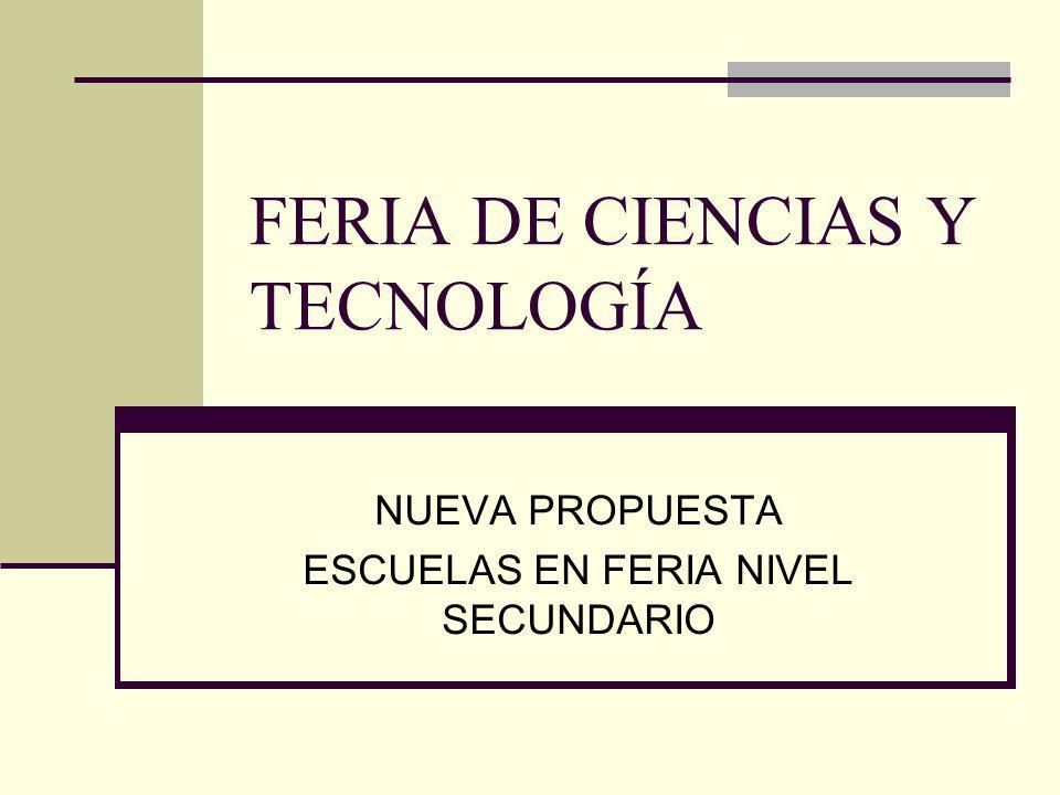 FERIA DE CIENCIAS Y TECNOLOGÍA