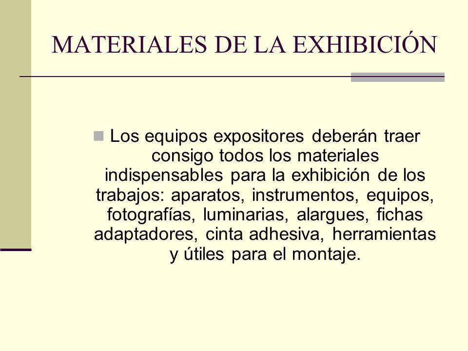MATERIALES DE LA EXHIBICIÓN