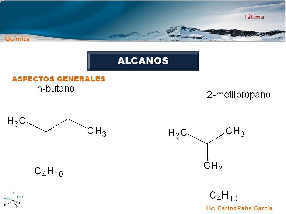 ALCANOS ASPECTOS GENERALES