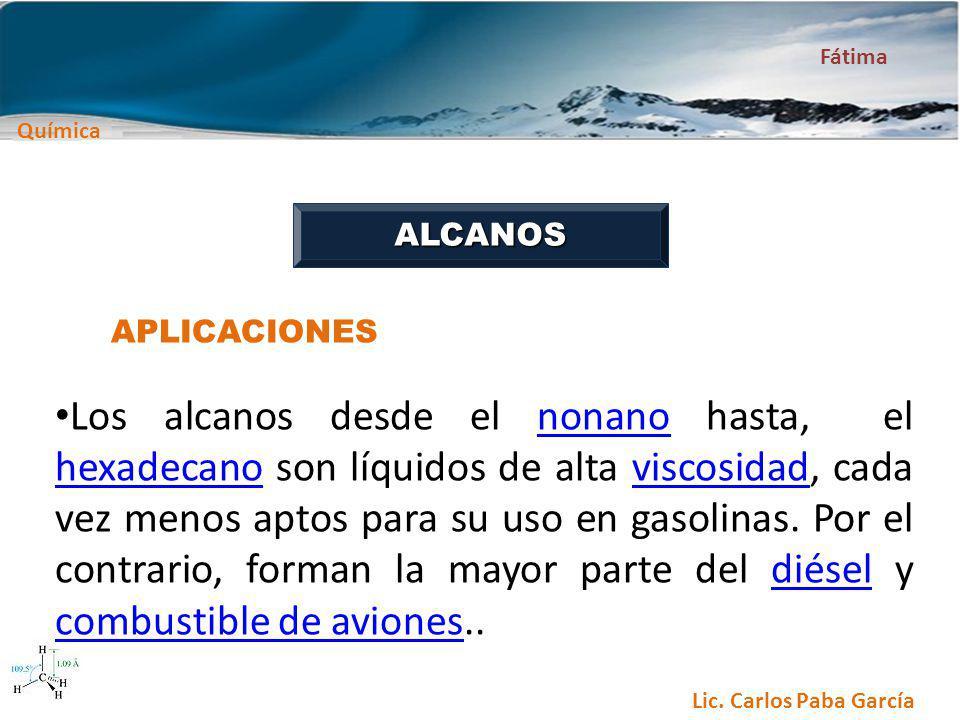 ALCANOS APLICACIONES.