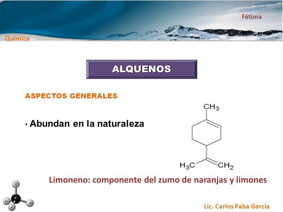 Limoneno: componente del zumo de naranjas y limones