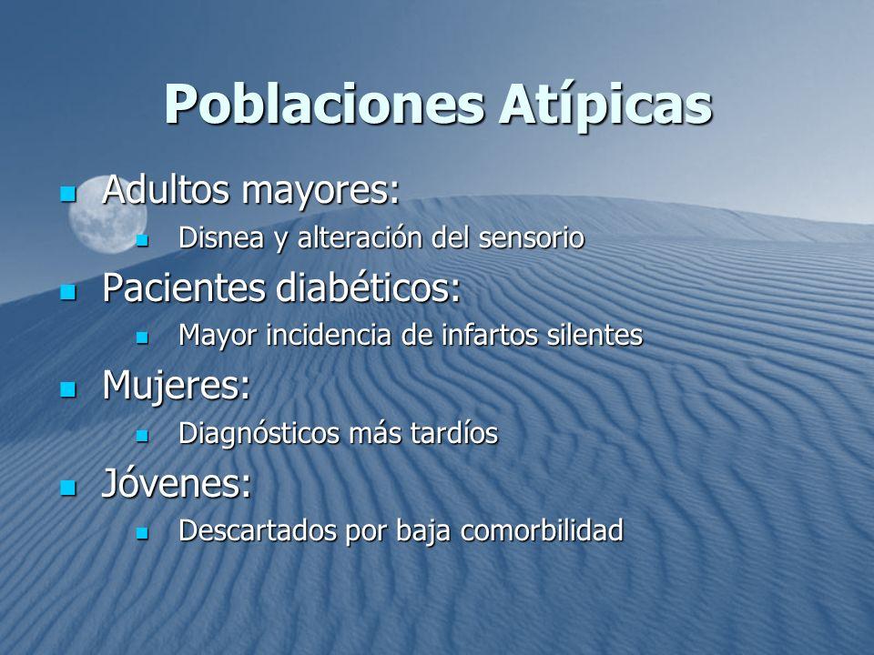 Poblaciones Atípicas Adultos mayores: Pacientes diabéticos: Mujeres: