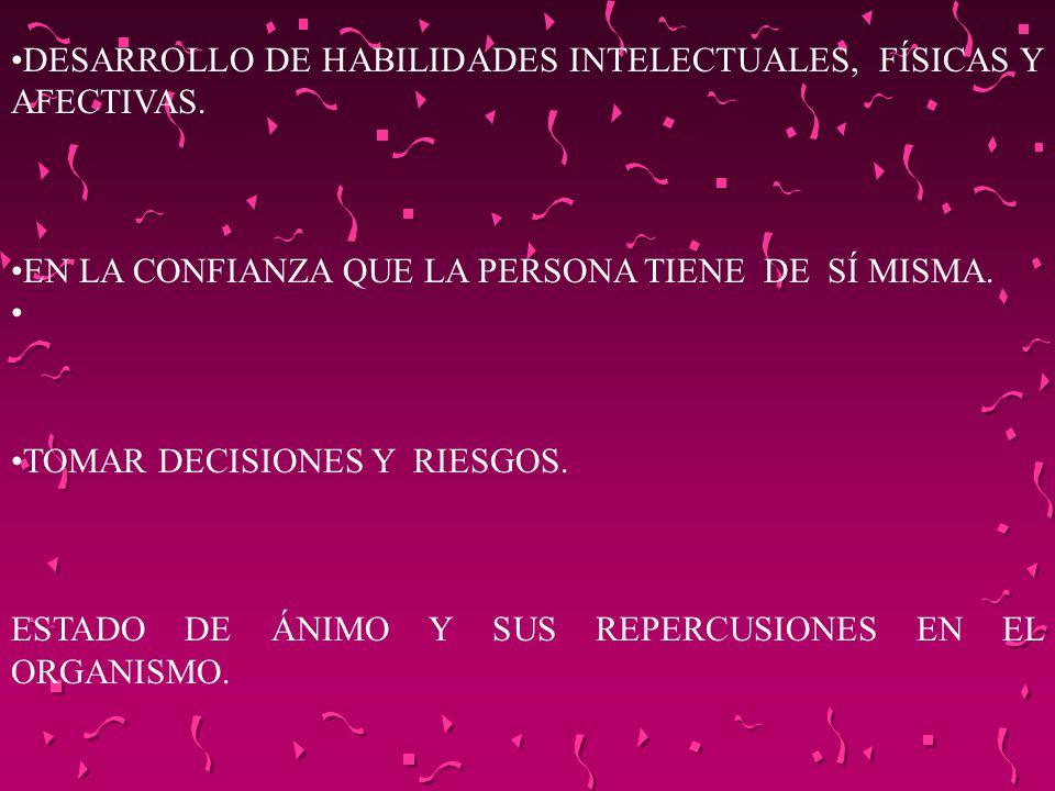 DESARROLLO DE HABILIDADES INTELECTUALES, FÍSICAS Y AFECTIVAS.