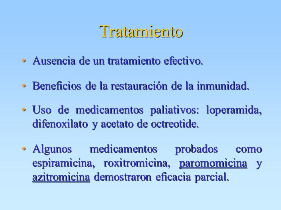 Tratamiento Ausencia de un tratamiento efectivo.