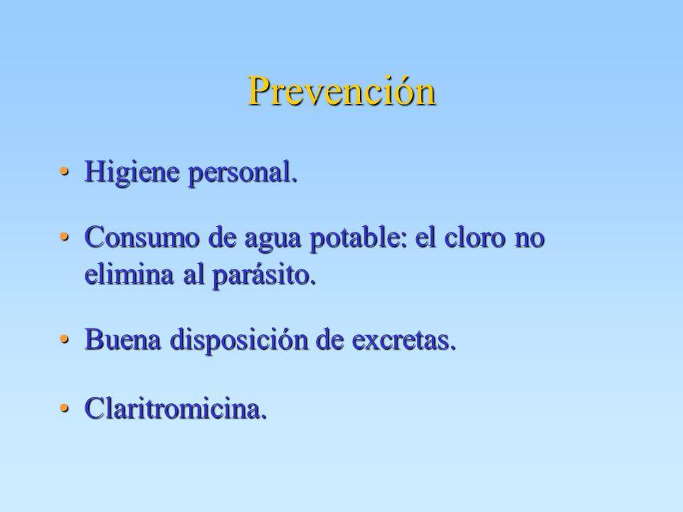 Prevención Higiene personal.