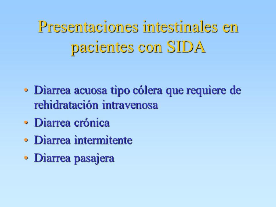 Presentaciones intestinales en pacientes con SIDA