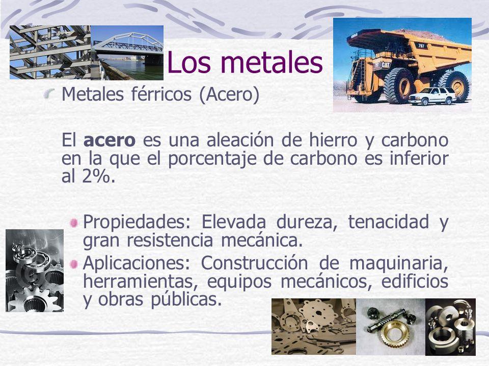 Los metales Metales férricos (Acero)