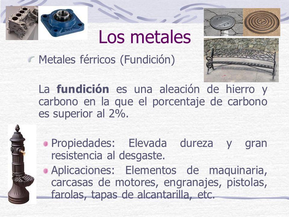 Los metales Metales férricos (Fundición)