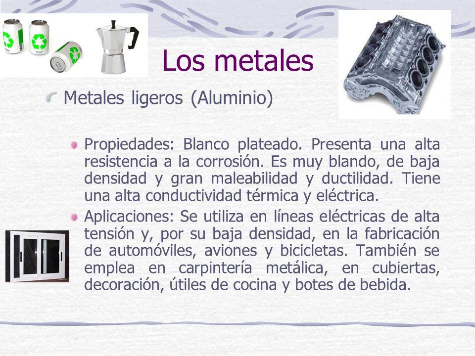 Los metales Metales ligeros (Aluminio)