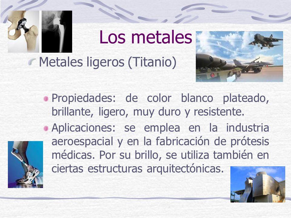 Los metales Metales ligeros (Titanio)