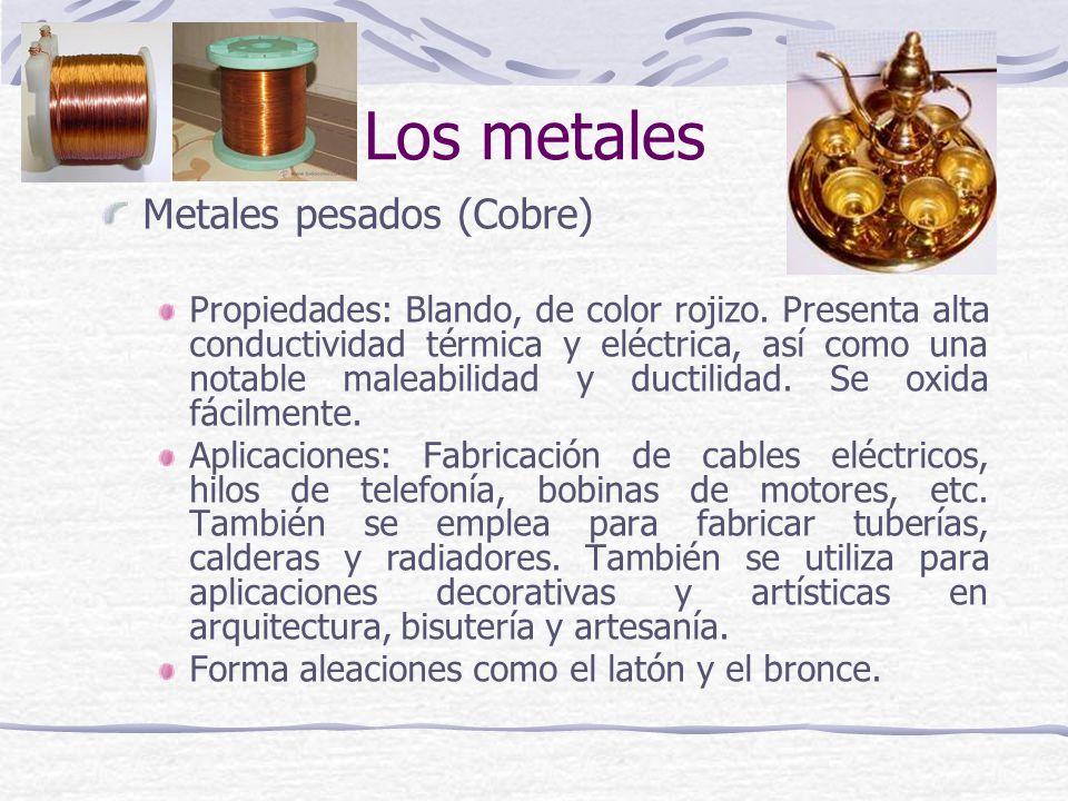 Los metales Metales pesados (Cobre)