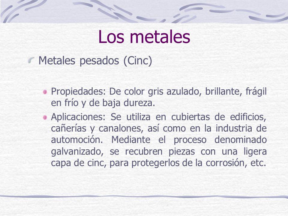 Los metales Metales pesados (Cinc)