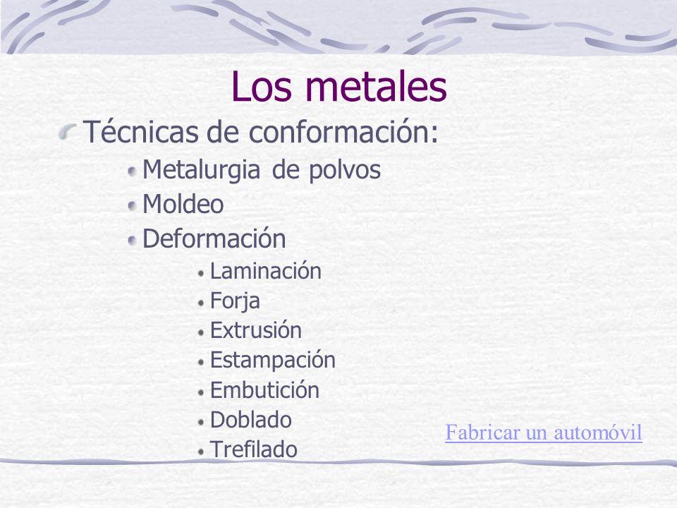 Los metales Técnicas de conformación: Metalurgia de polvos Moldeo