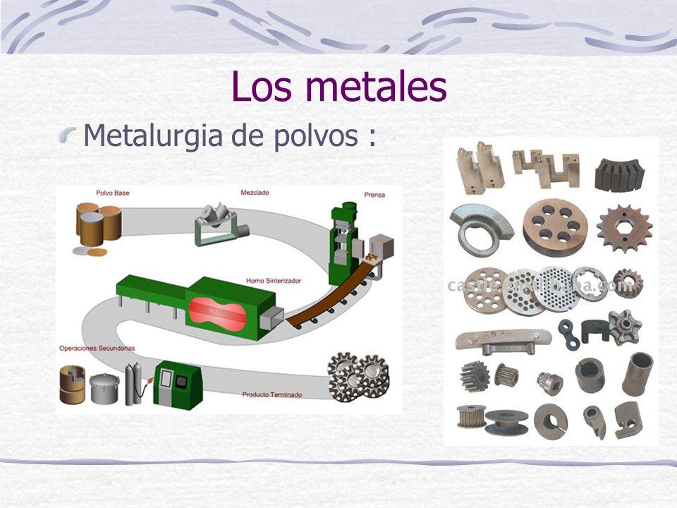 Los metales Metalurgia de polvos :