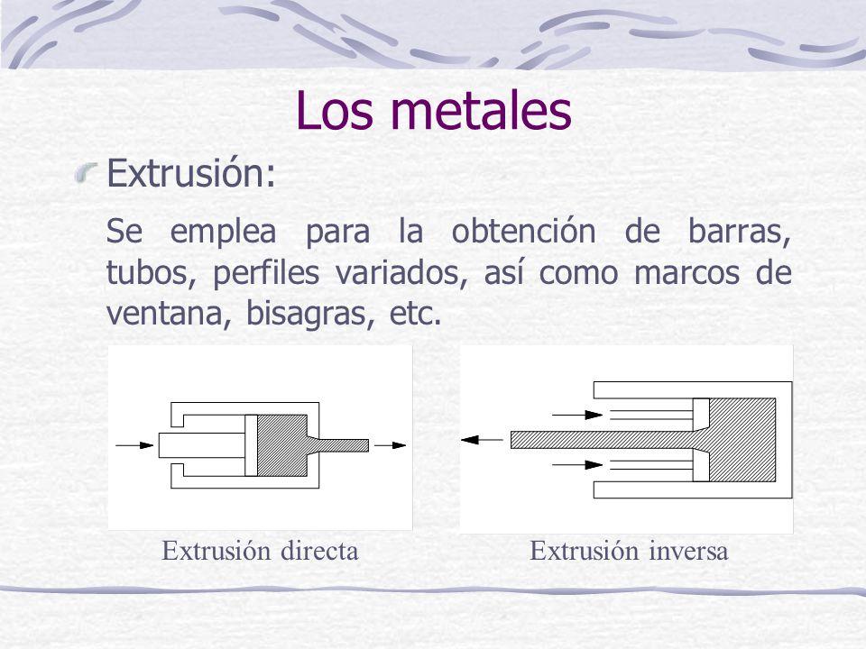 Los metales Extrusión: