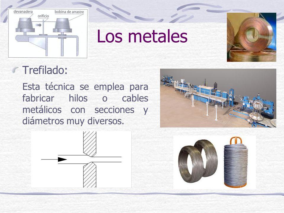 Los metales Trefilado: