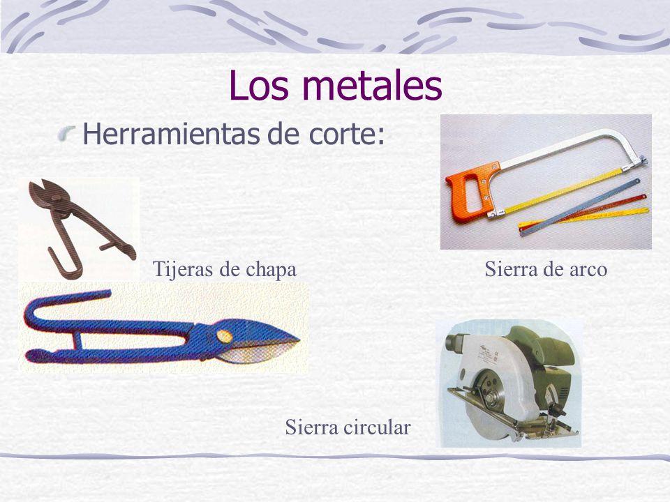 Los metales Herramientas de corte: Tijeras de chapa Sierra de arco