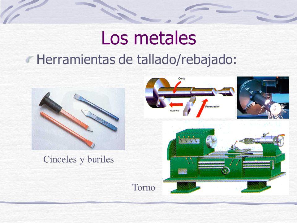 Los metales Herramientas de tallado/rebajado: Cinceles y buriles Torno
