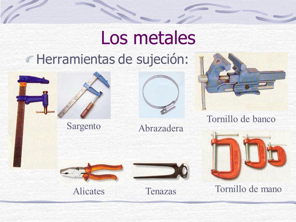 Los metales Herramientas de sujeción: Tornillo de banco Sargento